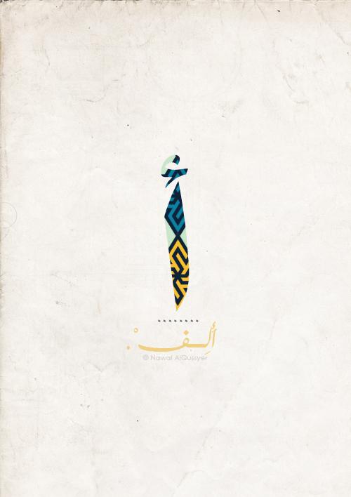 الحروف الأبجدية العربية تصميم لكل حرف مدونة نوال القصير
